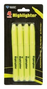Highlighter Yellow 4pc By Glowline Mfrpartno 01 1465