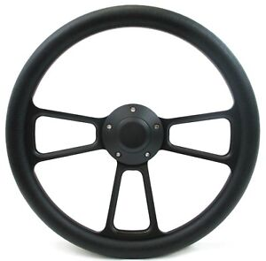 70 79 Ford Ranchero 14 Billet Half Wrap Steering Wheel Black