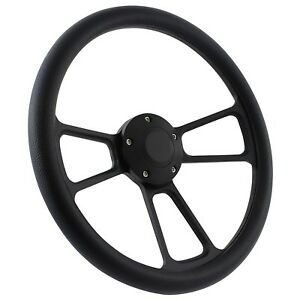 New World Motoring 70 79 Ford Ranchero Steering Wheel Kit 14 Black Muscle St