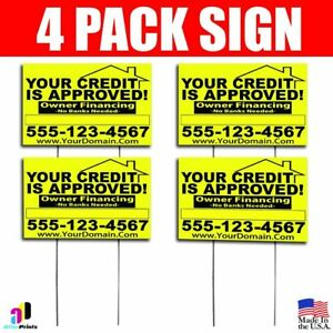 4x Your Credit Is Approved Signs Your Phone Number And Website Real Estate