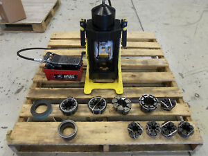 Weatherhead T480 Hydraulic 4 Wire Hose Crimper Portable Machine W Air Pump