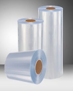 10 1 500 Ft 100 Gauge Thickness Pvc Heat Shrink Wrap Film Clear Centerfold