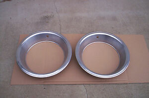 Mopar Rally Wheel Beauty Rings 15 X 7 X 3 Brushed Cuda Challenger