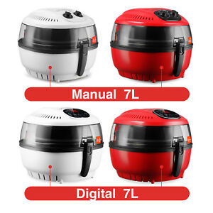 10qt White red Digital Electric Air Fryer Oil less Griller Calorie Reducer
