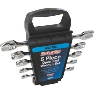 Channellock Metric Open End Wrench Set 5 Piece