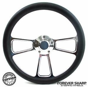 14 Aluminum Steering Wheel W Black Wrap 1970 87 Dodge Van Pickup Dart
