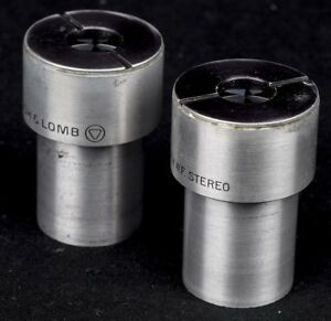 Lot Of 2 Bausch Lomb 15x Wf Stereo Microscope Eyepiece Ocular Lens Attachment