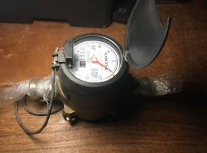 new Amco C700 Water Meter 5 8 Cubic Feet Bronze Valve With Scancoder