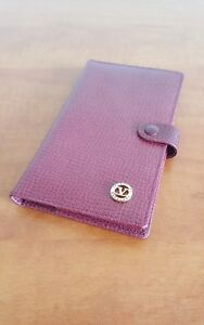 Authentic Valentino Garavani Red Leather Agenda Planner Notepad Holder Italy