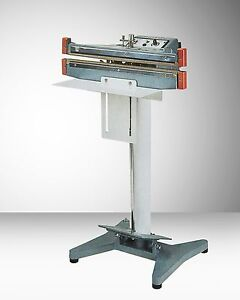 12 Seal And Cut Foot Operated Impulse Bag Sealer W 2mm Seal Aie 300fdc