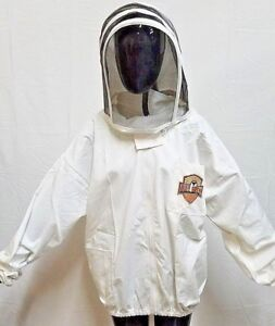 Durable Beekeeping Suit Jacket W Detachable Hood By Bee Shield 2xl