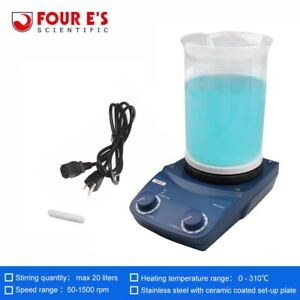 Four E s Magnetic Heater Stirrer 310 c Heating And 20l Mixing Stirrer us Plug