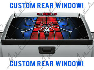 Spiderman Web Dodge Spiders Chevy Pickup Truck Rear Perforated Window Dc Decal