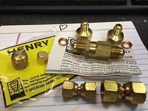 Vacuum Pump Kit Check Valve Brass 1 4 Or 3 8 Male Flare Henry Valve Company