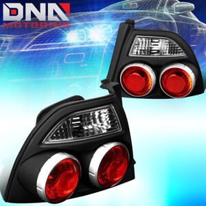 For 1994 1997 Honda Accord Black Housing Skyline Style Tail Light Brake Lamps