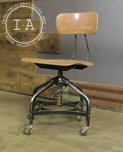Vintage Industrial Toledo Uhl Machinist Stool