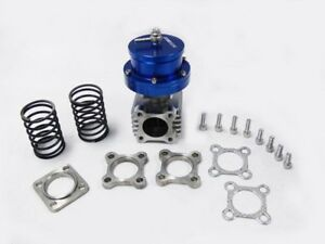 Obx Universal 46mm Blue Intimidator Wastegate With 4 Bolt Flange For Turbo