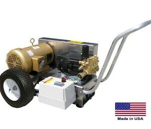 Pressure Washer Commercial Electric 4 Gpm 2000 Psi 5 Hp 230v 3 Ph Cat