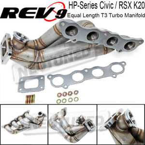For Civic Rsx K20 Hp Series 48mm Wg Side Winder Equal Length T3 Turbo Manifold