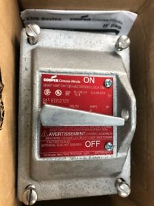 Crouse Hinds Edsc2129 Explosion Proof Snap Switch 3 4 1 pole Nos
