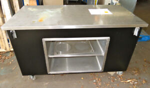 Stainless Steel Mobile Table cart With Storage Kitchen Prep Workshop Garage