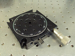 Nrc Standa 004744 Rotary Lens Optics Positioner Translation Stage Platform