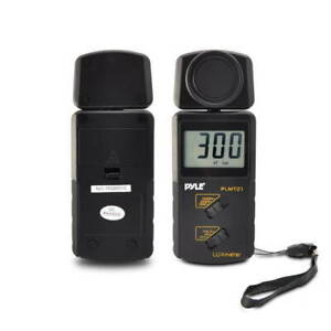New Pyle Plmt21 Handheld Digital Lux Light Meter Photometer W 20 000 Lux Range