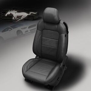 2015 2018 Ford Mustang Gt V6 Ecoboost Coupe Katzkin Leather Seats Factory Ebony
