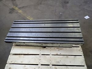 47 X 18 5 X 7 75 Steel Weld T slot Table Cast Iron Layout 6 Slot Jig