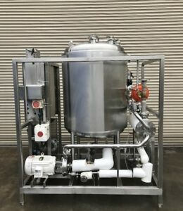 Cotter Single Tank Cip System With Ss Heat Exchanger