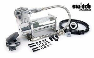 Viair 380c Chrome Single Compressor For Air Suspension 200psi 100 Duty Cycle