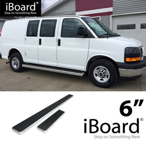 Iboard Running Boards 6 Inches Silver Fit 03 20 Chevy Express Gmc Savana