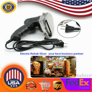 Professional Electric Shawarma Cutter Slicer Knife Gyro Doner Kebab 110v Us Ship