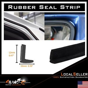 35ft Rubber Seal Car Door Sealing Edge Trim Weather Stripping L Shape Black