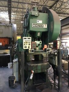 Minster Model 7 75 Ton Obi Punch Press With Cwp Servo Max Controller