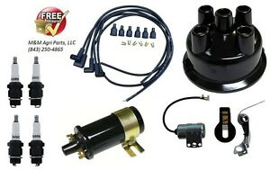 Tune Up Kit Ford 8n Tractor Side Mount Distributor Ignition Kit W 12v Coil