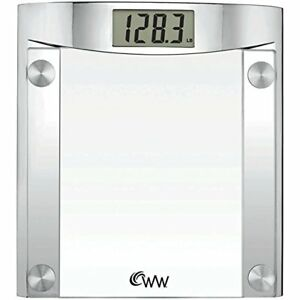 Conair Ww44 Weight Watchers Chrome glass Scale 1 5 Lcd 400 Lb Capacity