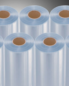Four Rolls 28 500 Ft 75 G Pvc Heat Activated Shrink Wrap Film Clear Centerfold