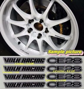 Black Ce28 Sticker Decal Jdm Japan Volk Racing Rays Wheel Decals 3m Sticker 8pcs