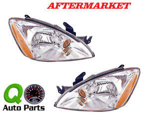 New Pair Set Headlight Headlamp Housing Assembly Dot 2004 2007 Mitsubishi Lancer