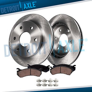 305mm Front Brake Rotors Ceramic Pads 1999 2006 Chevy Silverado Sierra 1500