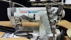 Pegasus W 562 3 needle 5 thread Industrial Coverstitch Sewing Machine 110v