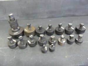 Large Set Of 17 Greenlee Knockout Punch Many Different Sizes