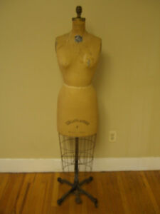 Vintage 1962 Jr Bauman Normal 7 Model Dress Form Mannequin Collaps a form Cage