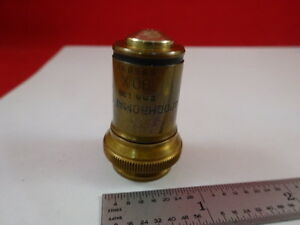 Bausch Lomb Antique Brass Apochromat 90x Optical Microscope Part Optics
