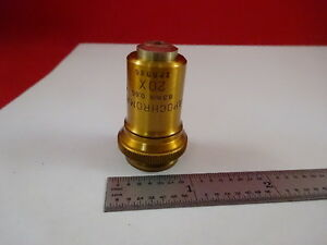 Bausch Lomb Antique Brass Apochromat 20x Optical Microscope Part Optics