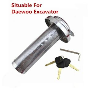 Daewoo Excavator Accessories Anti theft Fuel Tank Cap Lock With Strainer
