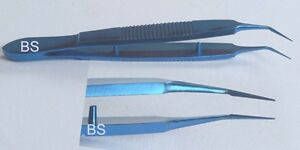 New Titanium Mcpherson Tying Forceps Straight And Angled Ophthalmic Instruments