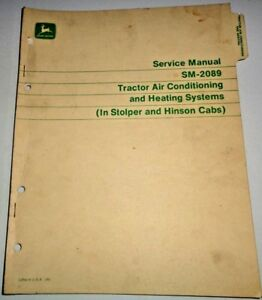 john Deere Tractor Air Conditioning Service Manual Stolper Hinson Cab 4020 4320