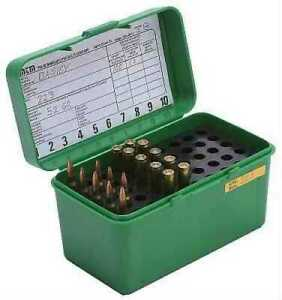 MTM Deluxe Ammo Box 50 Round Handle 25-06 30-06 270 Win Green H50-RL-10